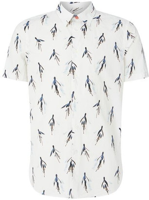 Paul Smith Large Flower Short Sleeve Shirt