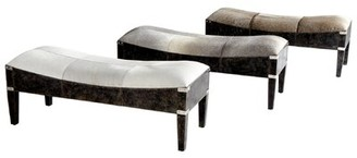 Fabulous Hyde on Cowhide Upholstered Bench Cyan Design
