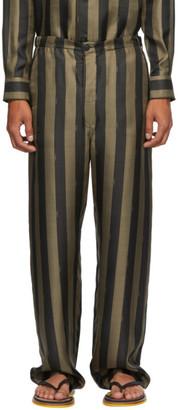 Fendi Brown Striped Pyjama Trousers