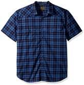 Lucky Brand Men's Short Sleeve Santa Fe Western Shirt in Blue Multi