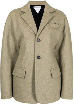 Bottega Veneta Cinched-Waist Single-Breasted Jacket