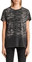 AllSaints Fadeout Tyger Joy T-Shirt, Black/Neutral