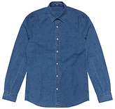 Denham Ellis Stripe Dot Shirt, Indigo
