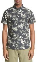 Saturdays NYC Men's Esquina Petals Print Trim Fit Sport Shirt