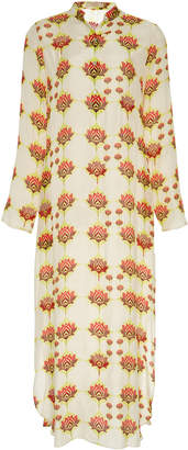Verandah Floral-Print Modal-Blend Midi Dress