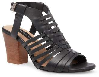 Steven by Steve Madden Frannie Block Heel Leather Sandal