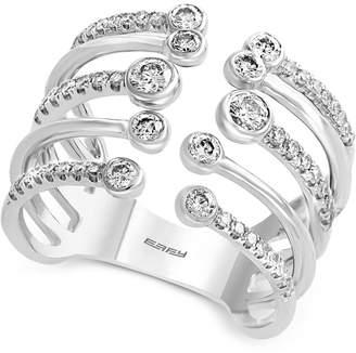 Effy Diamond Cuff Statement Ring (5/8 ct. t.w.) in 14k White Gold