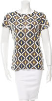 Tory Burch Embellished Crew Neck Top