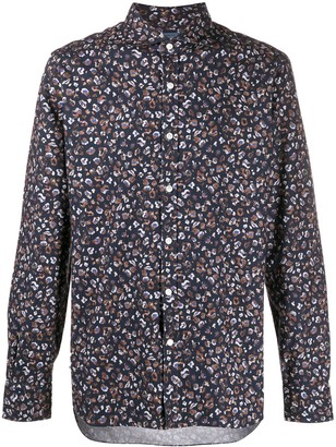 Barba Abstract Print Long Sleeve Shirt