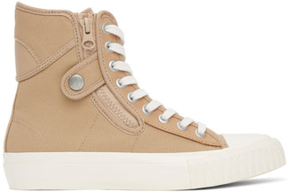 Regulation Yohji Yamamoto Beige Canvas High-Top Sneakers