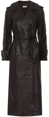 Co Leather trench coat
