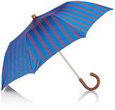 Barneys New York Men's Striped Folding Umbrella