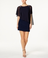 Xscape Evenings X by Petite Embellished Chiffon Cape Dress