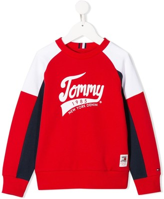 Tommy Hilfiger Junior Colour Block Logo Sweatshirt