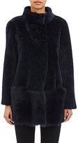 Barneys New York Women's Shearling Jacket-BLUE