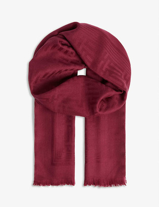 Ted Baker Tabay branded wool scarf