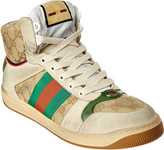 Gucci Web Gg High-Top Leather Sneaker