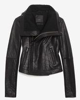 Veda Classic Leather Jacket: Black