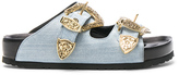 Fausto Puglisi Denim Sandals in Blue.