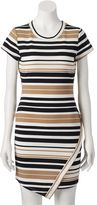 Almost Famous Juniors' Asymmetrical Striped Dress