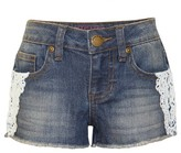 Franki & Jack Girls' Franki & Jack Crochet Trim Denim Shorts - Med Wash