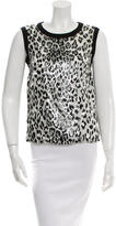 Giambattista Valli Sleeveless Leopard Print Top