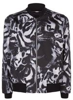 Ps By Paul Smith Large Leopard Bomber Jacket