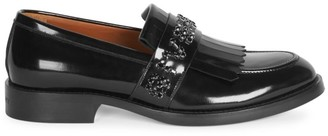 Givenchy Cruz Embellished Leather Penny Loafers