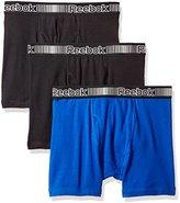 Reebok Men's 3pk Cotton Boxer Brief (Fly)