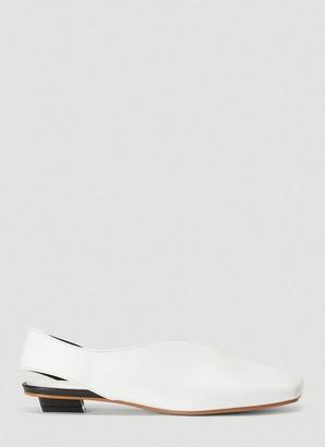 Flat Apartment Squared-Toe Slingback Shoes