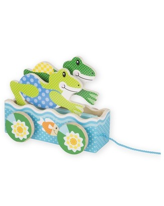 Melissa & Doug First Play Pull Toy Friendly Frogs