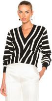 Chloé Sailor Stripe V-Neck Sweater