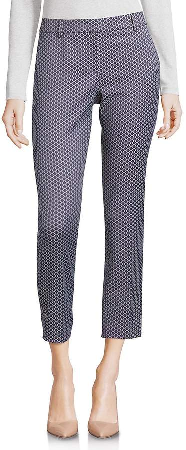 Peserico Women's Printed Cropped Trousers