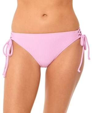 Macy's Salt + Cove Juniors' Textured Side-Tie Hipster Bikini Bottoms, Created for Women's Swimsuit