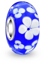 Bling Jewelry 925 Silver Murano Flower Bead Pandora Compatible