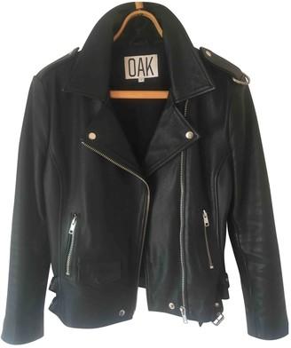 OAK Black Leather Jacket for Women