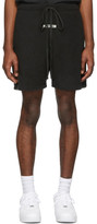 Essentials Black Polar Fleece Shorts