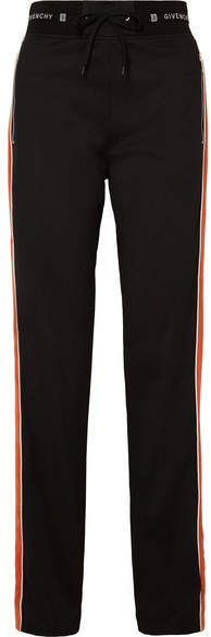 Givenchy Striped Neoprene Track Pants - Black