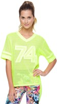 Juicy Couture Graphic Jersey Grid Mesh Tee