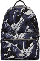 Dolce & Gabbana Multicolor Banana Leaves Print Backpack