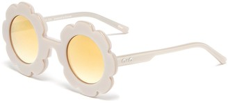Sons + Daughters 'Pixie' acetate flower frame kids sunglasses