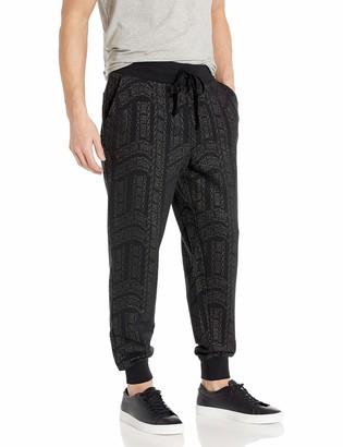 True Religion Men's All Over Printed Slim Leg fit Jogger Sweat Pant