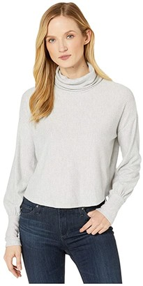 American Rose Sienna Long Sleeve Turtleneck Sweater (Heather Gray) Women's Clothing