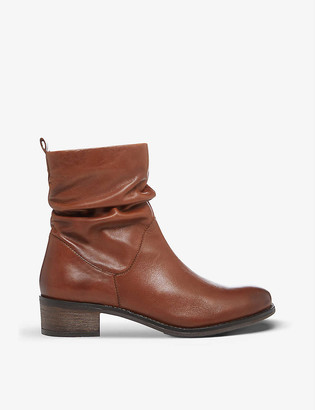 Dune Pagers leather ankle boots