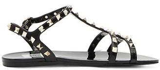 Valentino Rockstud PVC Gladiator Sandals