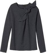 Banana Republic Stripe Bow-Neck Couture Sweatshirt