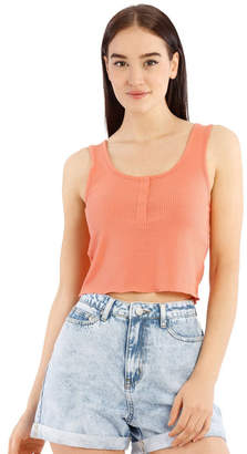 Miss Shop Ribbed Cropped Tank