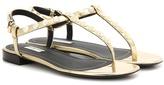 Balenciaga Giant Studded Metallic Leather Sandals