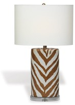 The Well Appointed House Kenya Brown Oval Lamp in Brown Zebra