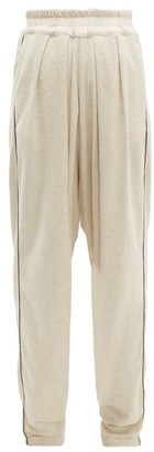 ALBUS LUMEN Traveller Contrast-piping Cotton-blend Trousers - Nude